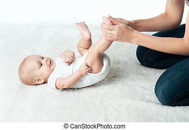 ママ, 赤ん坊の マッサージ, 作成
