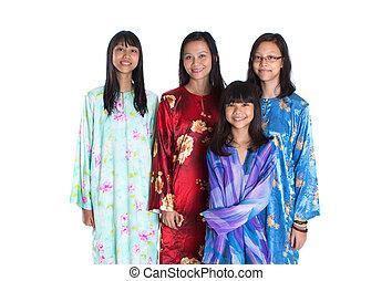 マライ人, アジア人, 娘, 母