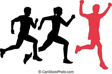 マラソン, 競争