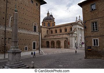 マリア, イタリア, s, church., カトリック教, assunta, urbino, 15/09/13, 大聖堂, -