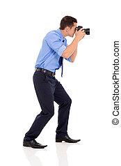 マレ, カメラマン, 写真, 射撃, サイド光景
