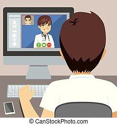 マレ, コンピュータ, 医者, オンラインで