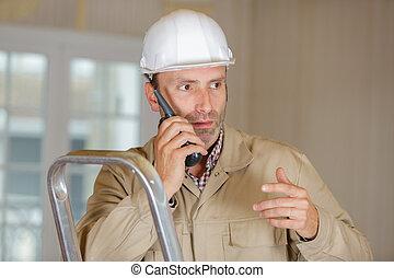 マレ, トーキー, 建設, 使うこと, 労働者, walkie