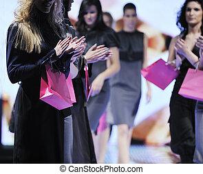 マレ, モデル, 上に, ファッションショー