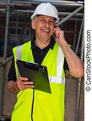 マレ, 建物は 計画する, サイトフォアマン, 使うこと, 建築者, 電話, 建築業者, 建築家