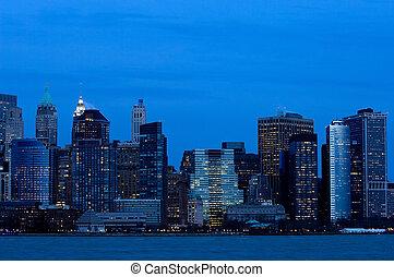 マンハッタン, ダウンタウンに, 中に, blu