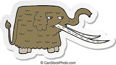マンモス, ステッカー, 羊毛である, 漫画