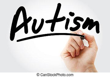 マーカー, テキスト, autism