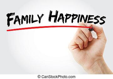 マーカー, 手, 幸福, 家族, 執筆