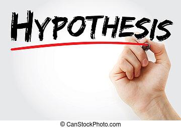 マーカー, 手, hypothesis, 執筆
