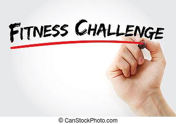 マーカー, 挑戦, フィットネス, 手の執筆