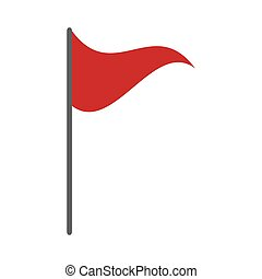 マーカー, 旗, 赤