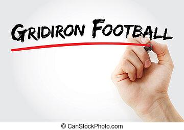 マーカー, gridiron, フットボール, 手の執筆