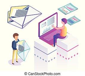 マーケティング, インターネット, メッセージ, ビジネス, デジタル