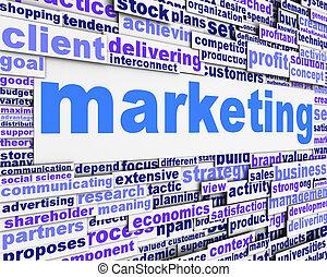 マーケティング, メッセージ, 概念, デザイン