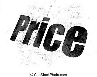 マーケティング, 価格, concept:, 背景, デジタル