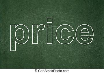 マーケティング, 価格, concept:, 黒板, 背景