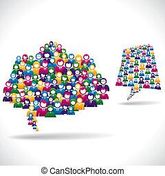 マーケティング, 概念, オンラインで, 作戦