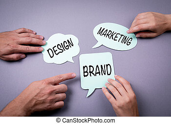 マーケティング, 概念, デザイン, ビジネス, ブランド