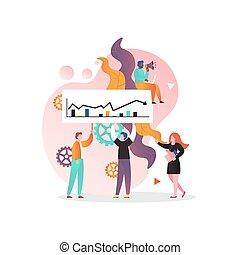 マーケティング, 概念, ベクトル, 網, 旗, ページ, ウェブサイト
