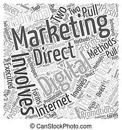 マーケティング, 概念, 単語, 雲, デジタル