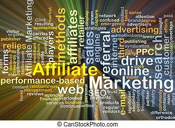 マーケティング, 白熱, 概念, affiliate, 背景