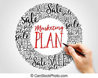 マーケティング, 言葉, 計画, 雲
