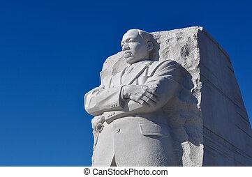 マーティン luther, 王, 像, 記念碑, 中に, washington d.c.