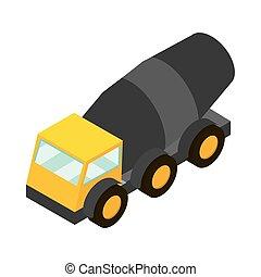 ミキサー, 等大, 建設, トラック, コンクリート