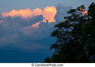 ミシガン州, 日没, 湖