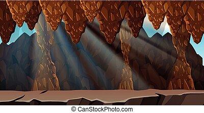ミステリー, 洞穴, 風景