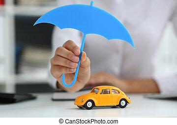 ミニチュア, 手掛かり, 傘, 女性手