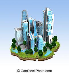 ミニチュア, 現代, 概念, 都市
