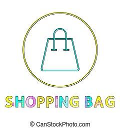 ミニマリスト, 買い物の色, lineout, 袋, glyph, アイコン