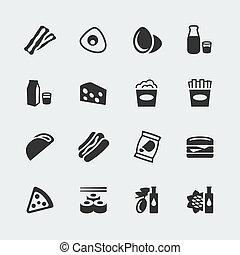 ミニ, セット, アイコン, 食物, ベクトル, #2