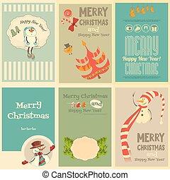 ミニ, ポスター, セット, クリスマス, かわいい