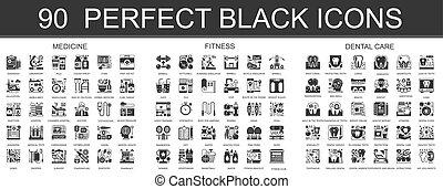 ミニ, 概念, クラシック, 旅行, pictogram, 現代, 黒, symbols., ベクトル, 結婚式, 巡航, イラスト, 90, 美しさ, set., アイコン