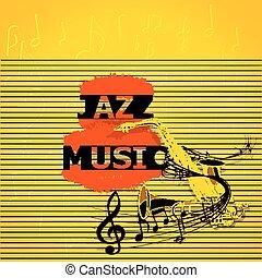 ミュージカル, ジャズ 音楽, メモ, サクソフォーン