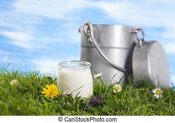 ミルク水差し, ヨーグルト