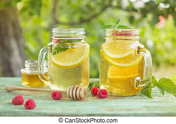 ミント, 冷たい飲み物, レモン, すがすがしい