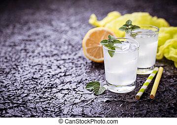 ミント, 冷たい飲み物, レモン
