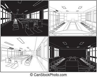 ミーティング部屋, 会議