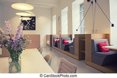 ミーティング, アリア, 中に, 新しい, 設計された, オフィス