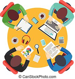 ミーティング, オフィス, チームワーク, ビジネス