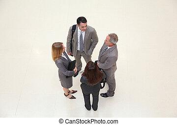 ミーティング, グループ, ホール, ビジネス 人々