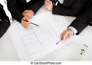 ミーティング, グループ, 建築家