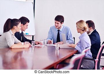 ミーティング, ビジネスオフィス, 人々