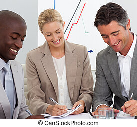 ミーティング, ビジネス チーム, 肖像画