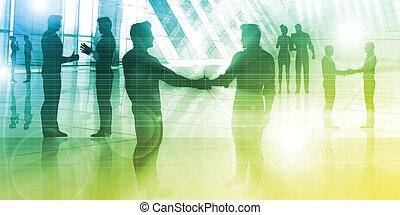 ミーティング, ビジネス 人々