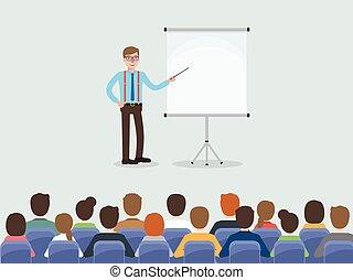 ミーティング, 会議, ビジネス 人々, room.